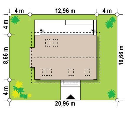 Проект небольшого мансардного коттеджа для узкого участка