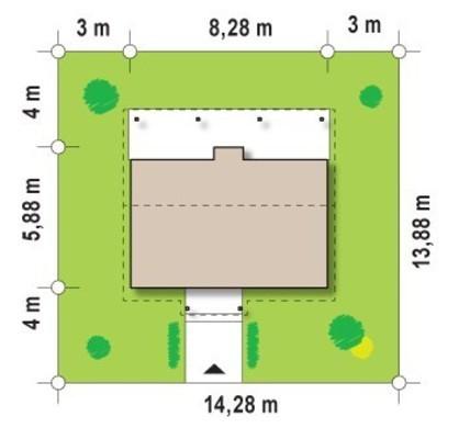 Проект бюджетного негабаритного одноэтажного дома с деревянным фасадом
