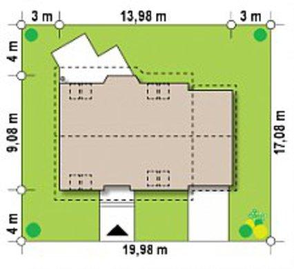 Проект двухэтажного загородного дома 9 на 14