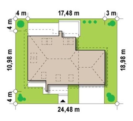 Проект дома с мансардой и гаражом для двух автомашин