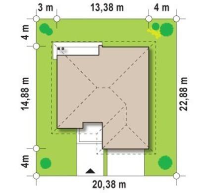Большой одноэтажный коттедж с гаражом для двух авто
