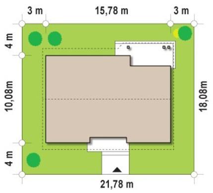 Проект классического одноэтажного дома с чердаком