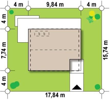 Современный компактный дом с мансардой