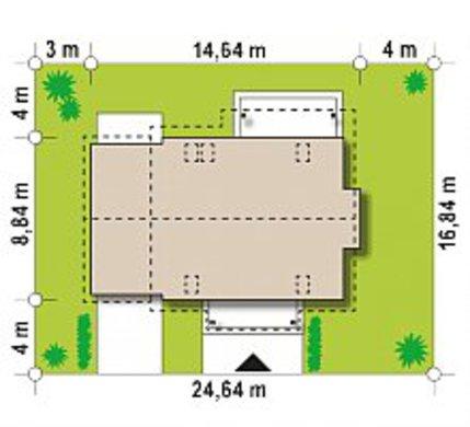 План усадьбы в белоснежно-шоколадном контрасте общей площадью 188 кв. м, жилой 116 кв. м