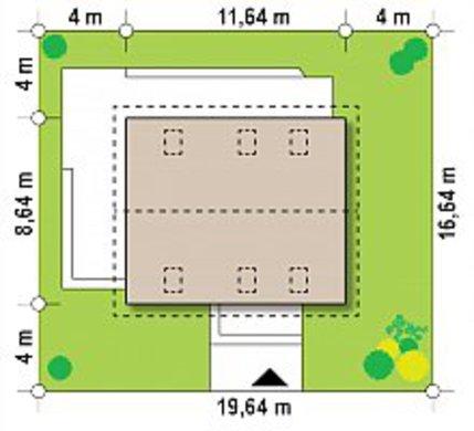 Проект загородного коттеджа с мансардой площадью 151 кв.м.