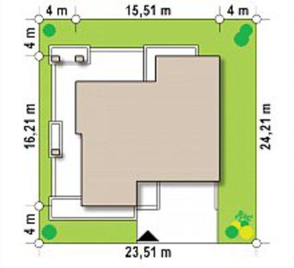 Проект большого коттеджа на 234 кв. м с просторной террасой