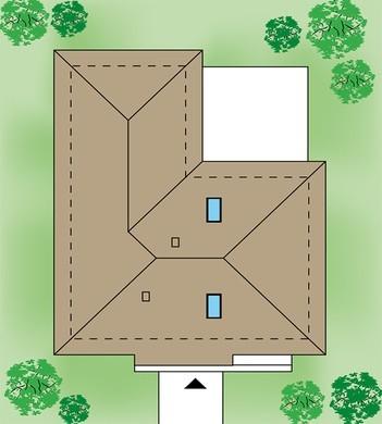 Одноэтажный дом с  верандой и тремя спальнями