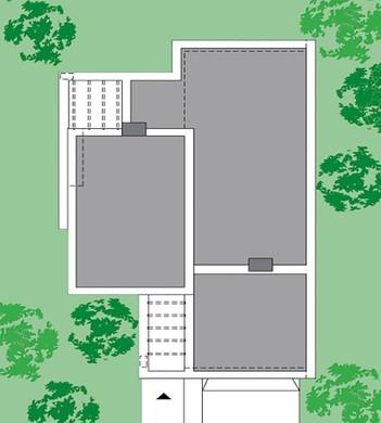 Изящный дом в один этаж с просторной зоной для отдыха