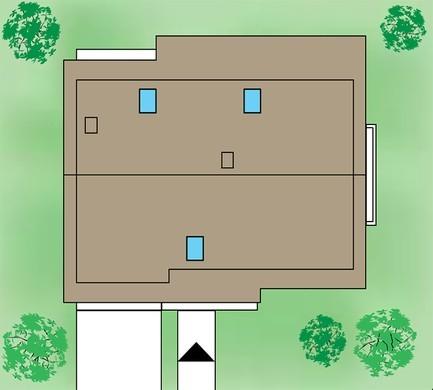 Проект жилого дома с колоннами и балконами