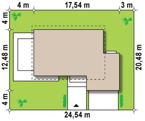 Проект удобного коттеджа с мансардой, гостиной и гаражом на 2 машины