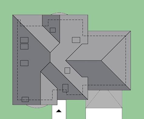 Восхитительный коттедж с полукруглыми балконами и гаражом на два автомобиля