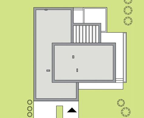 Просторный одноэтажный коттедж в белом цвете