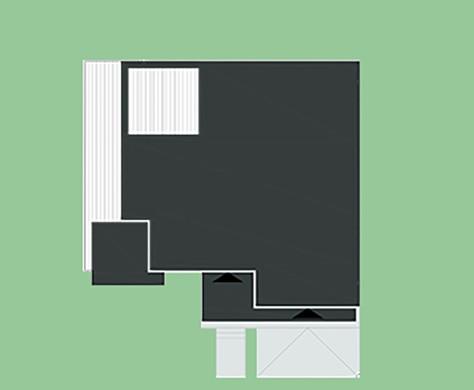Современный одноэтажный оригинальный дом