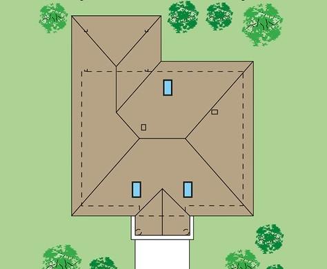 Одноэтажный коттедж в классическом стиле