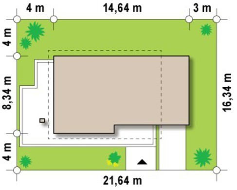 Проект дома в классическом стиле с современными элементами