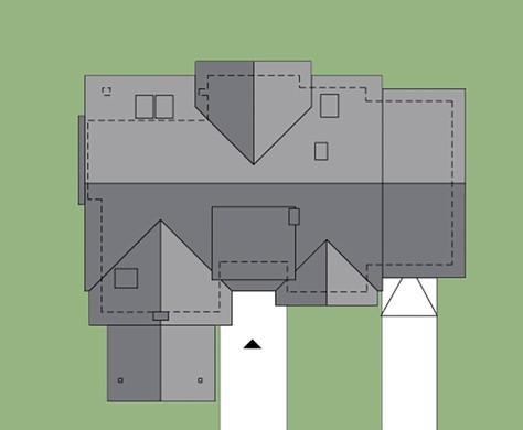 Красивый загородный дом, декорированный красным кирпичом