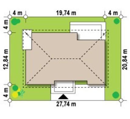 Проект комфортабельного коттеджа с 4 спальнями