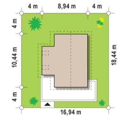 Классический 2х-этажный коттедж для узкого участка