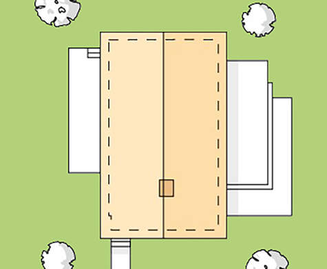 План дома в 73 кв. м для небольшой семьи