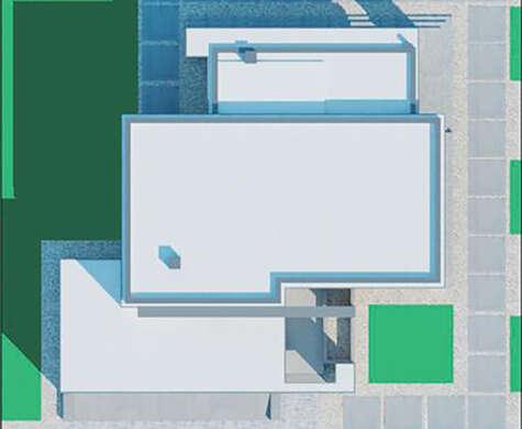 Проект дома в духе современной архитектуры