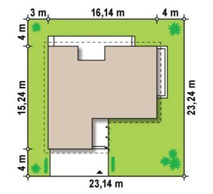Большой одноэтажный коттедж со сдвоенным гаражом