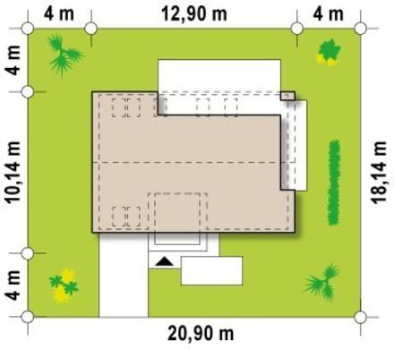 Оригинальный проект дома с большой лоджией на втором этаже