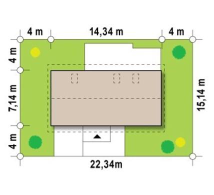 Проект загородного дома с высокой мансардой