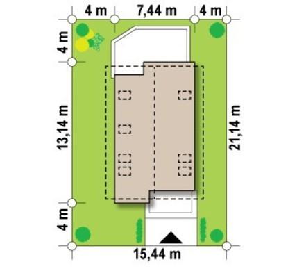 Проект небольшого дома с мансардой для узкого участка