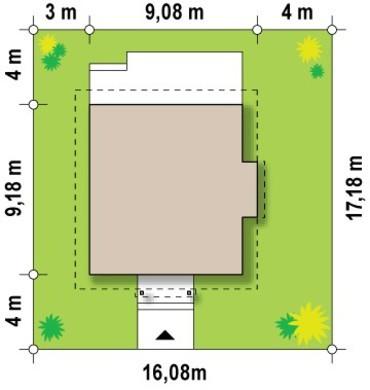 Проект малогабаритного дома с кабинетом на первом этаже
