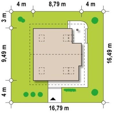 Проект двухэтажного загородного коттеджа с панорамным остеклением
