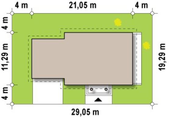 Проект особняка с гаражом для 2-х автомашин