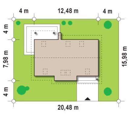 Проект классического коттеджа с комнатой на первом этаже