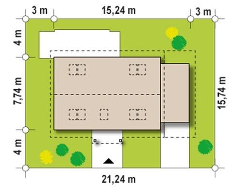 Проект дома с двумя спальнями в мансардном этаже