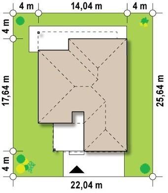 Просторный дом в стиле хай-тек с 2-я спальнями