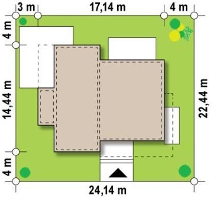 Одноэтажный особнячок в стиле хай-тек