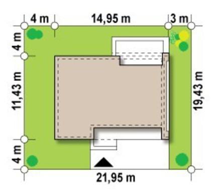 Стильный проект современного одноэтажного дома хай-тек с плоской крышей
