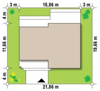 Красивый проект одноэтажного коттеджа с плоской крышей