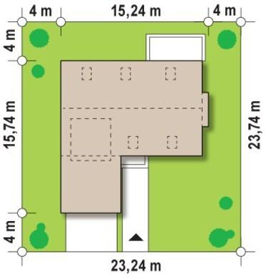 Двухэтажный коттедж с террасой на втором этаже