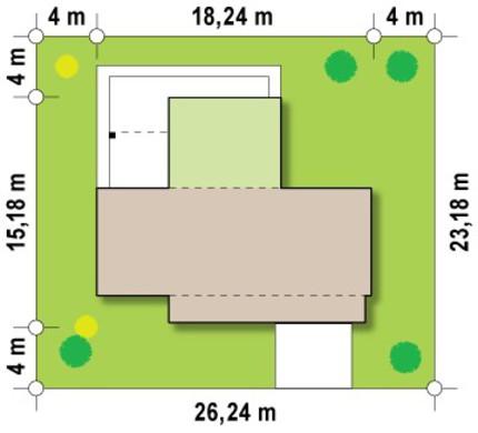 Современный проект коттеджа с двумя спальнями