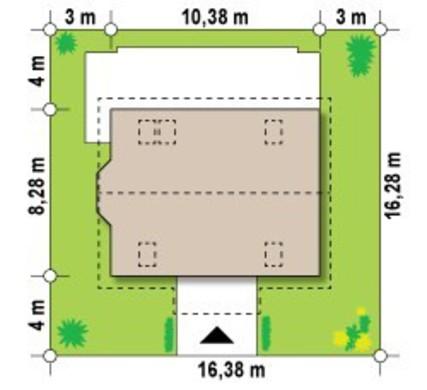 Проект уютного коттеджа с мансардой площадью 140 m²