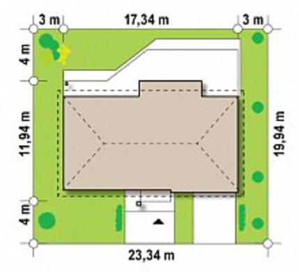 Версия проекта одноэтажного коттеджа 4M090 с перепланировкой