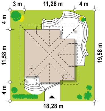 Проект уютного яркого коттеджа с мансардой 4M122 в каркасном варианте