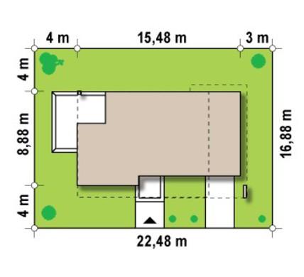 Двухэтажный современный дом с комфортным угловым балконом