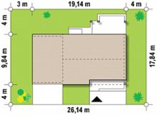 Проект дачного коттеджа по типу 4M272 с гаражом