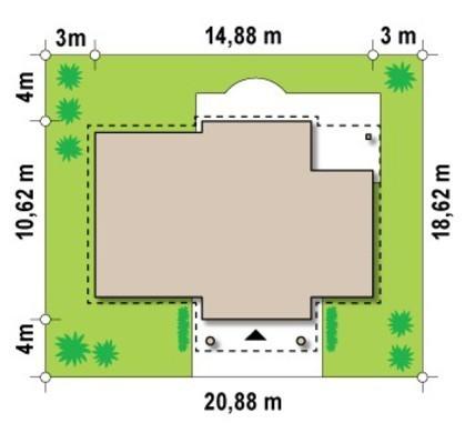 Коттедж в стиле дворянской усадьбы