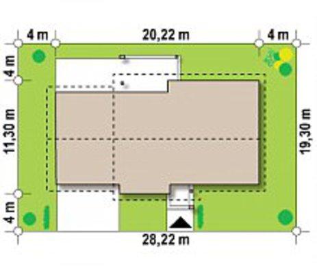 Комфортный практичный дом с гаражом на 2 машины по типу 4M334