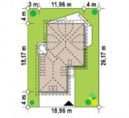 Комфортный коттедж с мансардой в европейском стиле