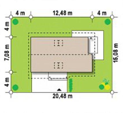 Проект популярного дома для отдыха 4M480 с гаражом пристроенным слева