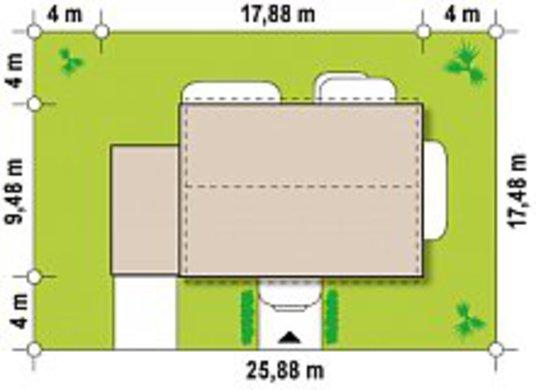 Проект дома 4M628 в каркасном исполнении