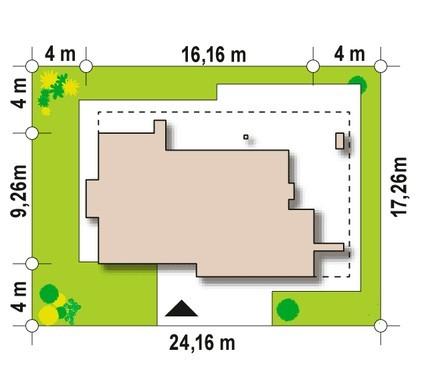 Проект комфортного одноэтажного дома с бассейном